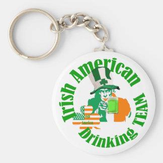 Irish american drinking team keychain