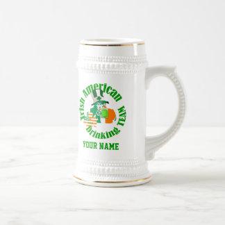 Irish American drinking team, St Patrick's day 18 Oz Beer Stein