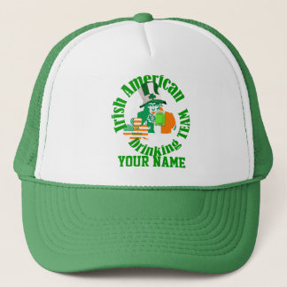 Irish American drinking team, St Patrick's day Trucker Hat