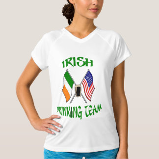 Irish American Drinking Team, St-Patty's Day Flags T-Shirt