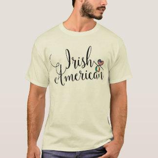 Irish American Entwinted Hearts Tee Shirt