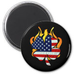 Irish American Firefighters 2 Inch Round Magnet