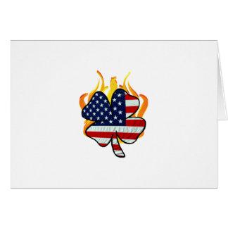 Irish American Firefighters Card
