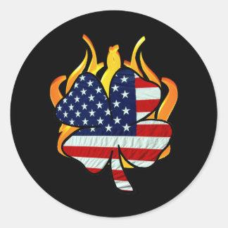 Irish American Firefighters Classic Round Sticker