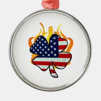 Irish American Firefighters Metal Ornament