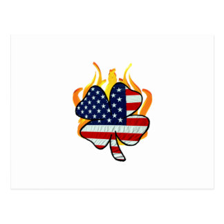 Irish American Firefighters Postcard