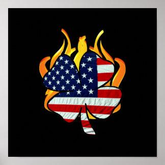 Irish American Firefighters Poster