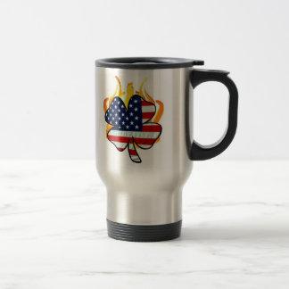 Irish American Firefighters Travel Mug