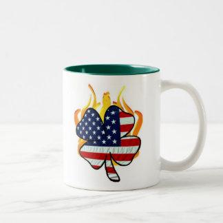 Irish American Firefighters Two-Tone Coffee Mug