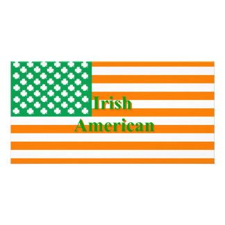 Irish american flag card