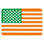 Irish american flag flexible magnets