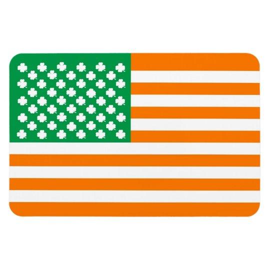 Irish American Flag Magnet Zazzle Com