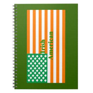 Irish american flag notebook