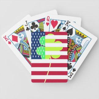 Irish American Flag Shamrock Clover St. Patrick Bicycle Playing Cards