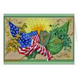 irish american flags card