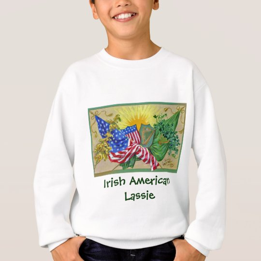 irish american flags sweatshirt