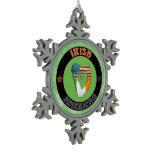 Irish American Harp Christmas Tree Ornament