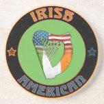 Irish American Harp Coaster