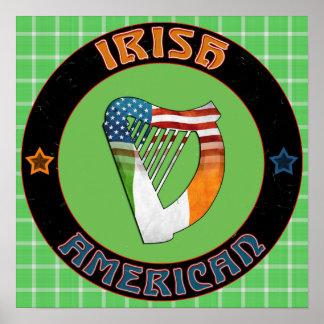 Irish American Harp Poster