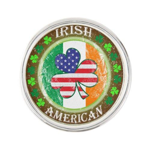 Irish American Lapel Pin