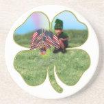 Irish American Leprechaun Drink Coasters