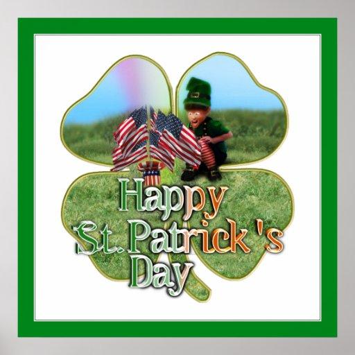 Irish American Leprechaun Print
