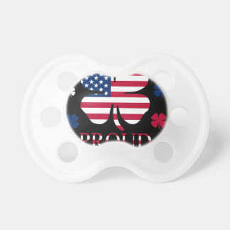 Irish-American Luck Four Leaf Clover Baby Pacifiers