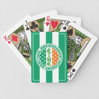 Irish American Pride - Éire Flag with Gaelic Text Bicycle Playing Cards