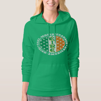 Irish American Pride - Éire Flag with Gaelic Text Hoodie