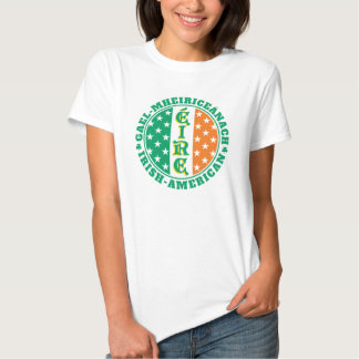Irish American Pride - Éire Flag with Gaelic Text Shirts