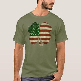 Irish American Shamrock Patriot Flag T-Shirt