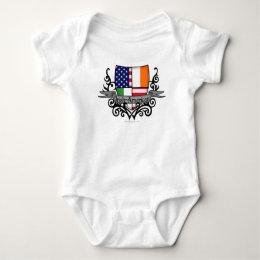 Irish-American Shield Flag Baby Bodysuit