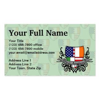 Irish-American Shield Flag Business Card