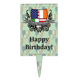 Irish-American Shield Flag Cake Topper
