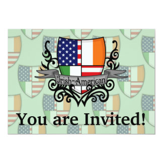 Irish-American Shield Flag Card