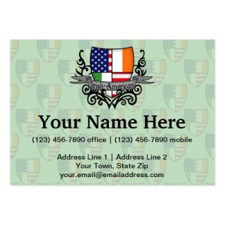 Irish-American Shield Flag Large Business Card