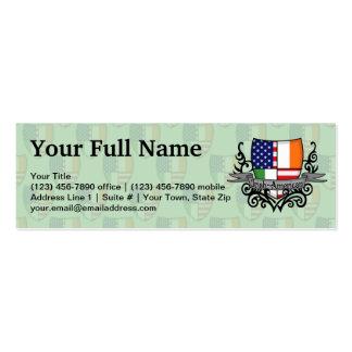 Irish-American Shield Flag Mini Business Card