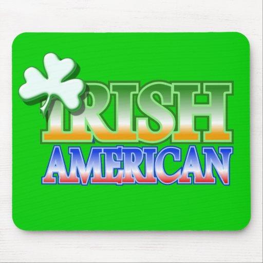 Irish American St Patrick's Shamrock Design Mouse Pad