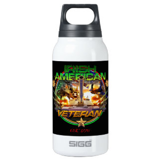 Irish American Veteran Pride 10 Oz Insulated SIGG Thermos Water Bottle