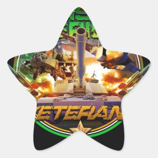 Irish American Veteran Pride Star Sticker