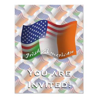Irish-American Waving Flag Card