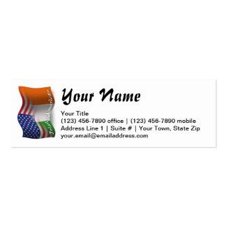 Irish-American Waving Flag Mini Business Card