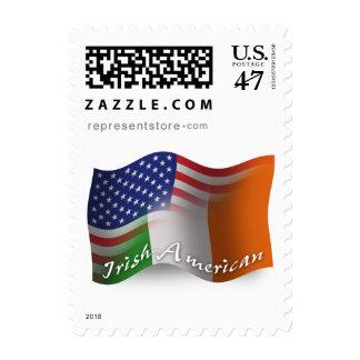 Irish-American Waving Flag Stamp