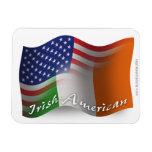 Irish-American Waving Flag Vinyl Magnet