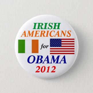 Irish americans for Obama Button