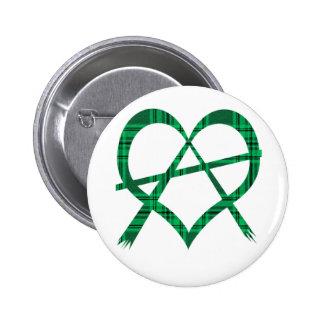 Irish Anarchy Heart Symbol Button Badge