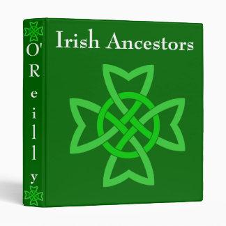 Irish Ancestors Green Celtic Knot Binder