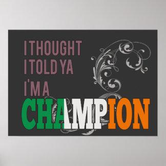 Irish and a Champion Poster