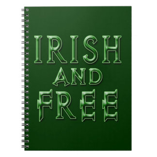 IRISH and FREE for St. Patrick's Day Spiral Notebook
