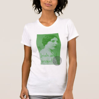 Irish and Proud Antique Photo T-shirt with Knot